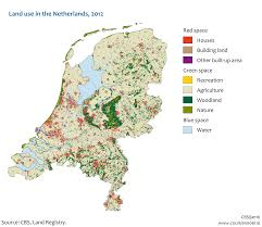 Map Netherlands Land Use In The Netherlands 2012 Detailed Map 2129x1846 Mapporn