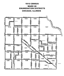 Map Of Chicago Wards by 1910