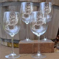 wine sets napa valley elk 16 oz etched wine glass sets cabin place