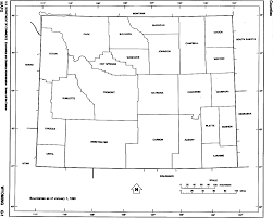Blank Map Of Midwest States by Wyoming Outline Maps And Map Links