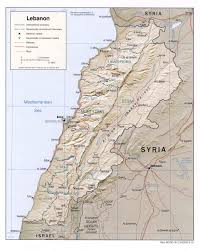 Political Map Of Asia Maps Of Lebanon Map Library Maps Of The World