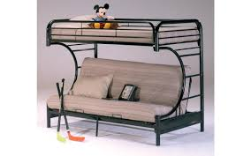 Bunk Bed Headboard Banner Black Futon Metal Bunkbed My Furniture Place