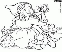 red riding hood coloring pages printable games