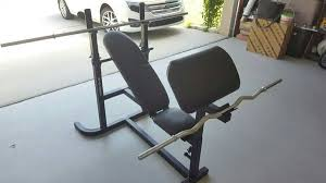 biodyne weight bench with weights and attachments sports