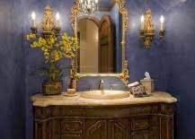 Bright Yellow Bathroom by Trendy Twist To A Timeless Color Scheme Bathrooms In Blue And Yellow