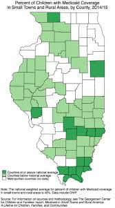 Illinois Map By County by State Data On Child Health Coverage In Small Towns And Rural Areas