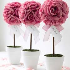 How To Make Ribbon Topiary Centerpieces by Wow Guests With Topiaries Flower Topiary Mazelmoments Com