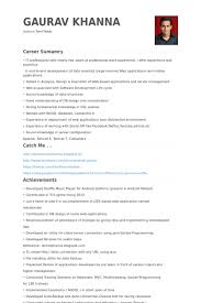 Software Developer Resume Examples by Sr Software Engineer Resume Samples Visualcv Resume Samples Database