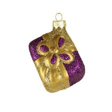 purple and gold ornaments