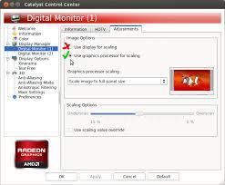 ati dual monitor problems screen flicker offset ubuntu
