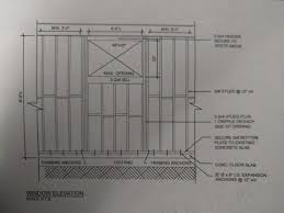 egress window bracing understanding drawing doityourself com