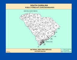 maps south carolina zone forecast boundaries