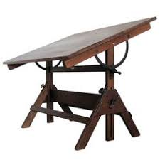 Drafting Table Vinyl Vintage Hamilton Oak And Maple Adjustable Drafting Table From A