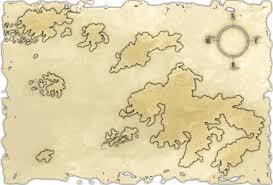 Empty World Map Blank Fantasy Island Map