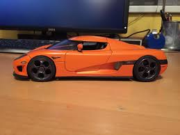 koenigsegg bburago koenigsegg makeover telephone dial and trevita orange finished