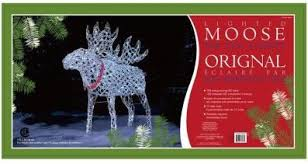 archived led lighted polar and moose outdoor decorations