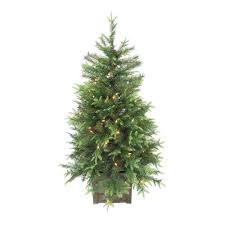home accents 4 ft pre lit grand fir potted artificial