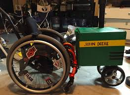 deere wrapping paper we turned our s wheelchair into a deere tractor for