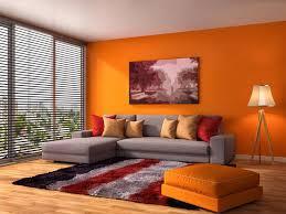 Orange Color Living Room Designs Home Decorating Interior - Orange living room design