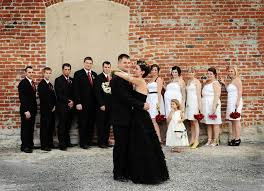 black wedding black wedding dress the knot