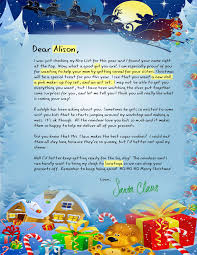 personalized letter from santa letters from santa