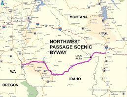 bitterroot mountains map roadrunner s list roads northwest passage scenic byway