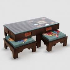 coffee table and stool set tables stool winsome coffee table with four stools online pepperfry
