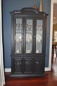 black china hutch with fabric lined interior inspiration for