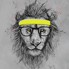 buy monde mosaic hipster lion print amara