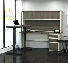 stand up l with shelves l shaped stand up desk l shape standing desk with hutch u shaped