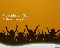 templates powerpoint free download music orange crowd powerpoint template is a free presentation template