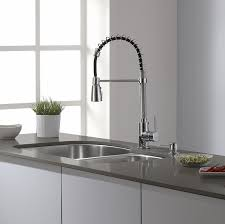 Pulldown Kitchen Faucets Buy Brushed Nickel Chrome Kitchen Faucet Double Sprayer Vessel