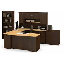 bestar manhattan u shaped workstation with lateral file and