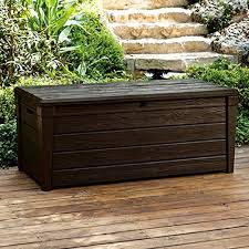 pool deck storage box and bench is 2 in 1 multifunctional patio