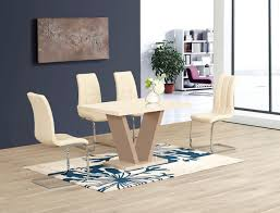 Black Glass Extending Dining Table 6 Chairs 57 High Dinner Table Set Dining Table High End Dining Tables