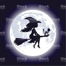 halloween witch silhouette stock vector art 165802405 istock