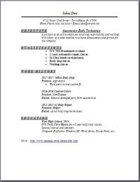 auto body technician resume occupational examples samples free