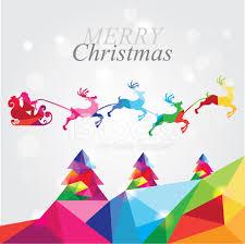 merry christmas modern modern merry christmas landscape with santa in reindeer sleigh