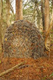 Umbrella Hunting Blinds Ghillie Ground Blind Cover For Double Blind Or Hunting Blinds