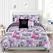 girls bed comforters bedding girls comforter bed set paris eiffel tower london pink and