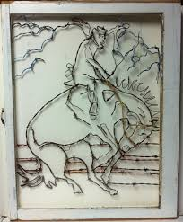wall hanging cowboy barbed wire art wire design hand