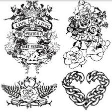 creative love tattoo design vector 300x300 love tattoo design art