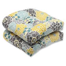 pillow perfect full bloom outdoor wicker seat cushions set of 2