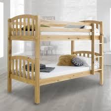 Pine Bunk Bed American Solid Honey Pine Wooden Bunk Bed