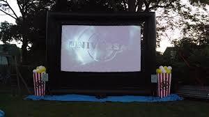 Backyard Projector Screen by Outdoor Movie Screen Rentals Outdoor Movie Screens Long Island