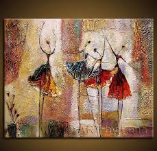 modern paint 100 hand paint modern abstract ballet dancer painting