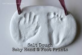 baby hand and foot prints from salt dough the imagination tree