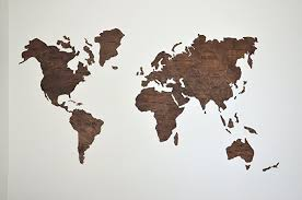 world map wood large map of the world travel map wall