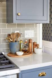 design kitchen trays are a great way to contain clutter on counters and keep