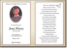 funeral card template memorial cards for funeral template free template s